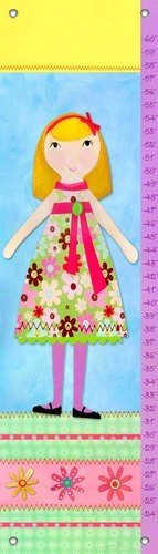 Oopsy Daisy Growth Charts My Doll 3 by Jessica Flick, 12 by 42-Inch