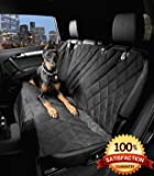 Dog Seat Cover with the Best Nonslip Rubber Backing and Seat Anchors for Your Car Truck or SUV Black Extra Large