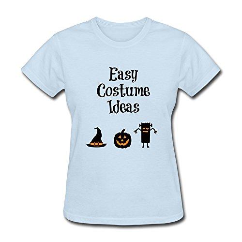 YOGUYA Women's Easy Halloween Costume Ideas T-shirt SkyBlue L SkyBlue (Halloween Costume Award Ideas)