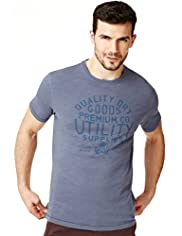 "2"" Longer North Coast Pure Cotton Utility T-Shirt"