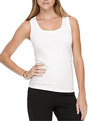 Shop Flash Full Tummy Control Body Shaping Compression Undergarment Women's Tank Top, White, X-Large by Shop Flash