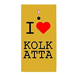 Skin4gadgets I love Kolkata Colour - White Phone Skin for LUMIA 800
