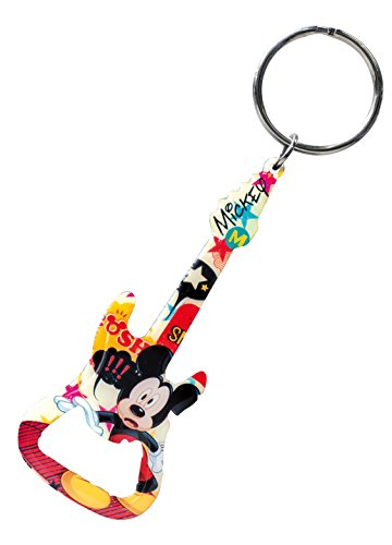Disney Mickey Guitar Bottle Opener Key Ring - 1