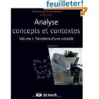 Analyse 1 concepts et contextes - fonctions d'une variable