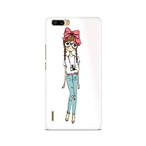 Mobicture Girl Abstract Premium Printed Case For Huawei Honor 6 Plus