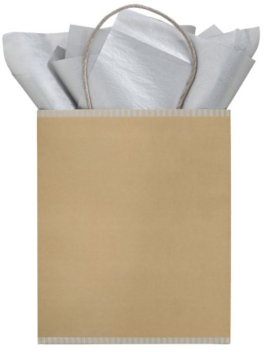 The Gift Wrap Company Midas Touch Two-tone Kraft Tote Gift Bag  (Pack of 12)