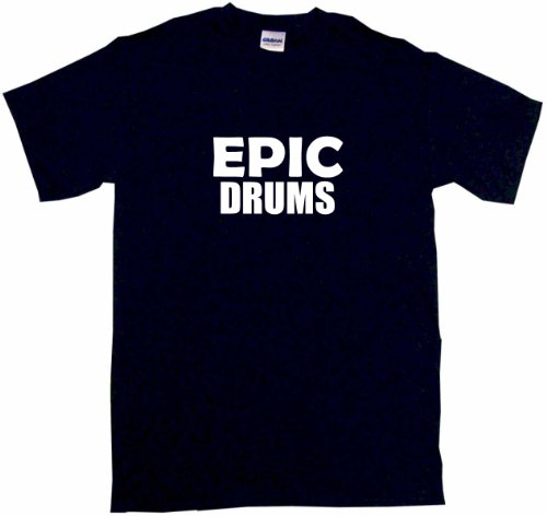 Epic Drums Men'S Tee Shirt Large-Black