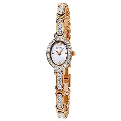 Bulova Women's 98L200 Stainless Steel Swarovski Crystal-Accented Watch
