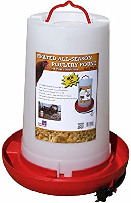 "Farm Innovators HPF-100 ""All-Seasons"" Heated Plastic Poultry Fountain 3 Gallon Model, 100-Watt"