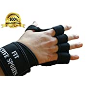 New Ventilated Weight Lifting Gloves with Wrist Wrap Supports Full Palm Protection and Extra Grip. Great for Pull Ups Cross Training Crossfit and Weight lifting. Suits Both Men And Women (Small)