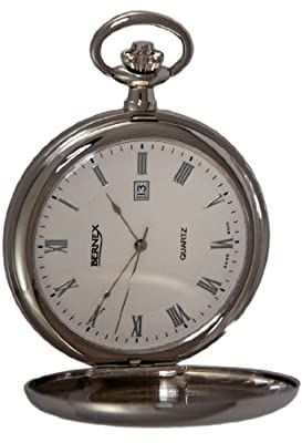 Bernex Pocket Watch GB21223 Chrome Plated Full Hunter