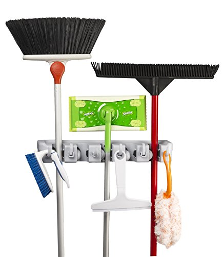 Spoga Wall Mounted Mop, Broom, and Sports Equipment Storage Organiser (Broom Organizer Spoga compare prices)