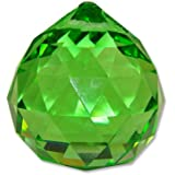 40mm Vintage Crystal Green Feng Shui Ball