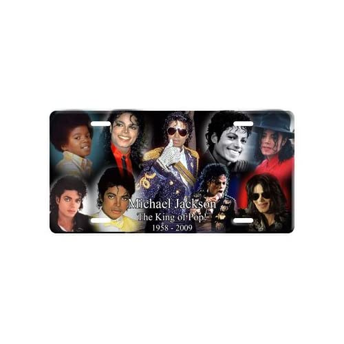 Michael Jackson Collage License Plate