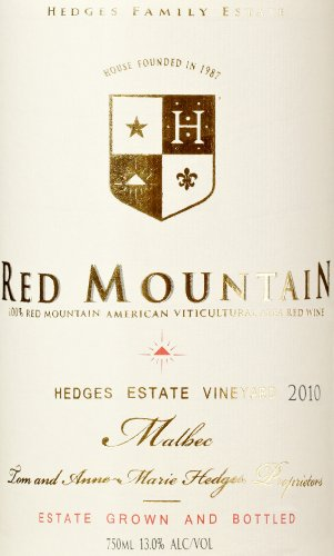 2010 Hedges Family Estate Single Vineyard Limited Malbec 750 Ml