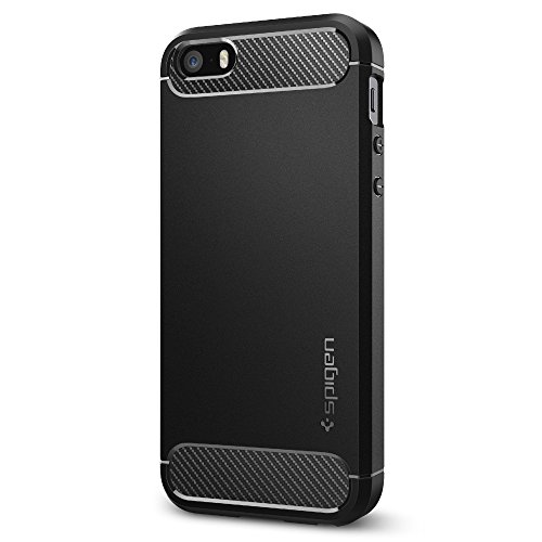 spigen-rugged-armor-iphone-se-case-with-resilient-shock-absorption-and-carbon-fiber-design-for-iphon