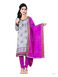 DnVeens Womens Churidar Embroidery Salwar Suit Dress Material