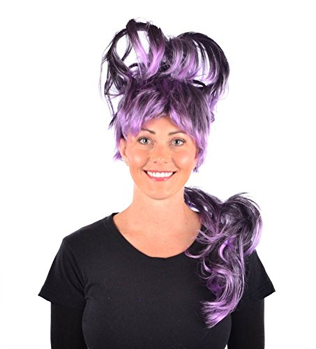 My Costume Wigs Women's Mardi Gras Queen Wig(Black/Purple) One Size Fits All