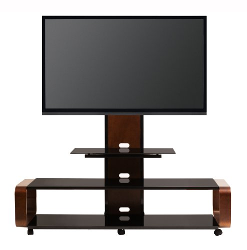 TransDeco TD655DB Multi-Function 3-in-1 TV Stand with Universal Mounting System for 35 to 80-Inch LCD/LED TV