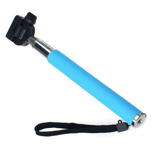 Telescopic Monopod Ski Pole Handle + Tripod Mount For Gopro Hd Hero 3+/Hero 3/Hero 2/Hero 1, Blue