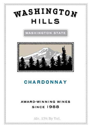 2010 Washington Hills Chardonnay Washington 750 Ml