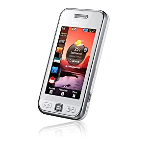 Samsung Star S5230 Smartphone (Touchscreen, 3MP Kamera, Video, MP3-Player, Bluetooth) snow-white