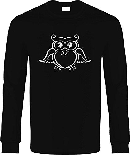 Kids Long Sleeve T-Shirt Size M (OWL (animal)) Youth Long Sleeve Tee Shirt