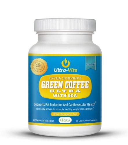 Ultra-Vite Extra Strength Green Coffee Ultra - Zero Fillers, Zero Binders, Zero Artificial Ingredients -Clinically Proven-60 Caps