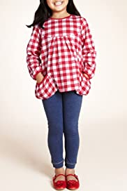 2 Piece Cotton Rich Gingham Check Tunic & Leggings Outfit [T77-8335D-Z]