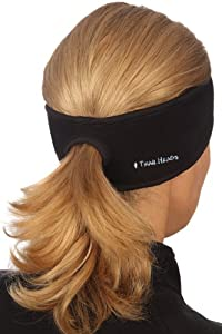 TrailHeads Goodbye Girl Ponytail Headband - black / black