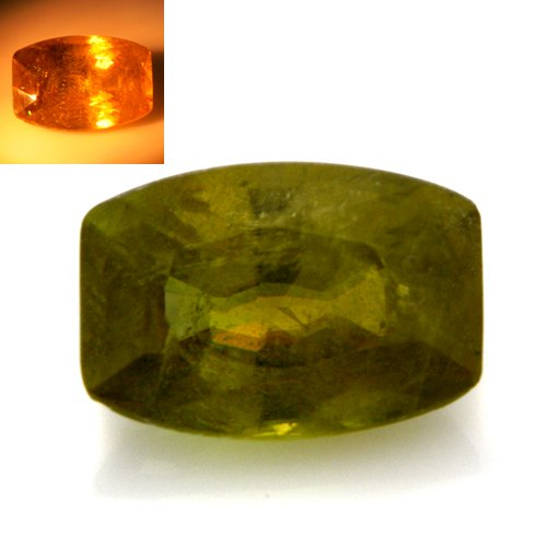 Natural Color Change Sphene Loose Gemstone Cushion Cut 2.05cts 9*4mm Amazing
