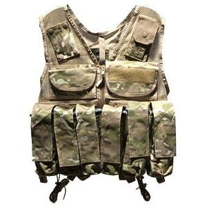 Rap4 Tactical Ten Paintball Scenario Vest - 8 Color Desert Camo - Large
