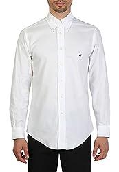 Brooks Brothers Men's Cotton Casual Shirt (BB_16022016_003_XL, White, XL)