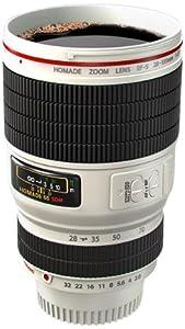 Der coole Kameraobjektiv Thermobecher - Ein lustiger Kaffeebecher als Objektiv einer Kamera (weiß)