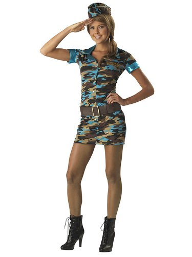 Sexy Army Costume Army Uniform USA Patriotic Teen Costume