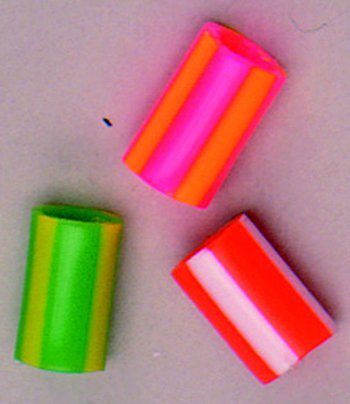 15 Pack HYGLOSS PRODUCTS INC. STRIPED STRAW BEADS