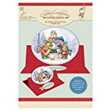 A5 Easel Decoupage Card Kit - Winter Wishes - Carol Singing