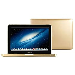 GMYLE Hard Case Metallic Color for Macbook Pro 13 inch - Metallic Champagne Gold