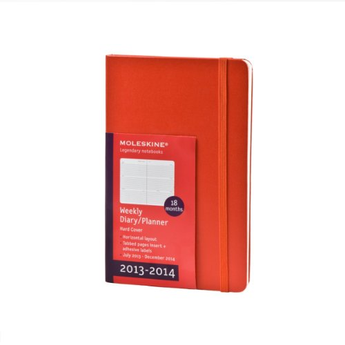 Moleskine 2013-2014 Weekly Planner, Horizontal, 18 Month, Large, Red, Hard Cover (5 x 8.25) (Planners & Datebooks)