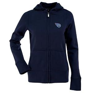 Tennessee Titans Ladies Zip Front Hoody Sweatshirt (Team Color) by Antigua