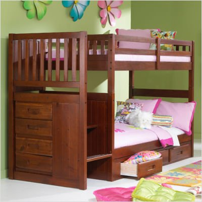 Bunk Beds With Stairs 6302 front