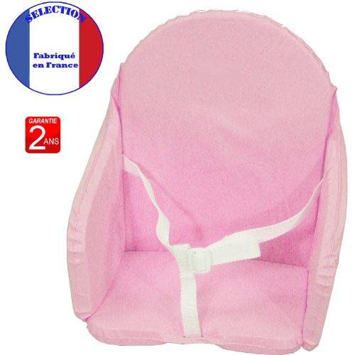 Baby-Sitzkissen-mit-gelben-Bnder-rosa