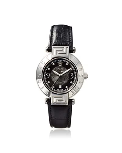 Versace Women's 68Q99D009 S009 Rêve Black Leather Watch