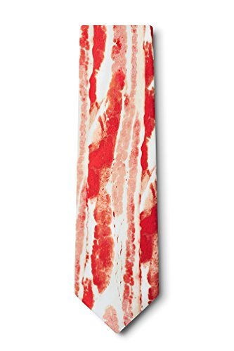 Bacon Forever Red Microfiber Extra Long Tie