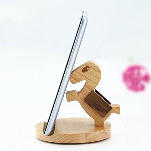 Creative porte-téléphone en bois? Beech base en bois téléphone mobile de support de téléphone paresseux ( couleur : Pony )