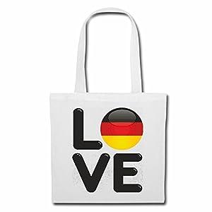 """Tasche Umhängetasche """"I LOVE DEUTSCHLAND GERMANY ICH LIEBE DEUTSCHLAND FUSSBALL BERLIN HAMBURG KÖLN LUDWIGSHAFEN FREIBURG"""" Einkaufstasche Schulbeutel"""