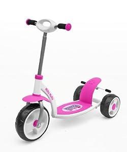 NEW 3 WHEEL PUSH KICK SCOOTER KIDS CHILDREN BOY GIRL METAL FRAME WITH BREAK (Pink)