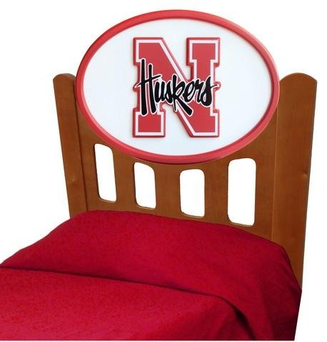 Cheap Nebraska Cornhuskers Kids Wooden Twin Headboard With Logo (C0526S-Nebraska)