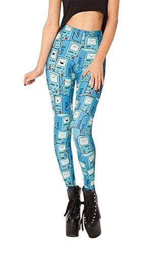 Women'S Fashion Digital Print Bmo Scoop Pattern Sexy Leggings