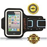 iPhone 6 Armband with Key Holder Also Fits iPhone 5/5s WITH CASE UNIQUE DESIGN with Pro-Athlete Quality for Sports Running Jogging Gym Fitness and Workouts Lightweight Water Resistant Washable Non slip Workout Protection for Your Apple Cell Phone. Best Choice for Comfort.